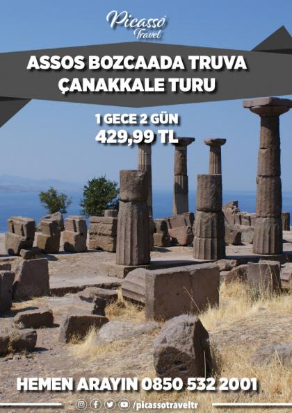 Assos Bozcaada Truva Çanakkale Turu Etkinlik Afişi