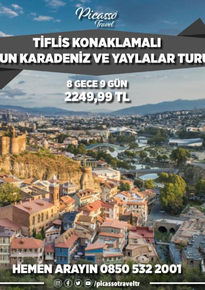 Tiflis Konaklamalı Uzun Karadeniz ve Yaylalar Turu Afişi
