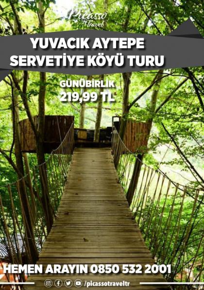YUVACIK AYTEPE SERVETİYE KÖYÜ TURU Etkinlik Afişi