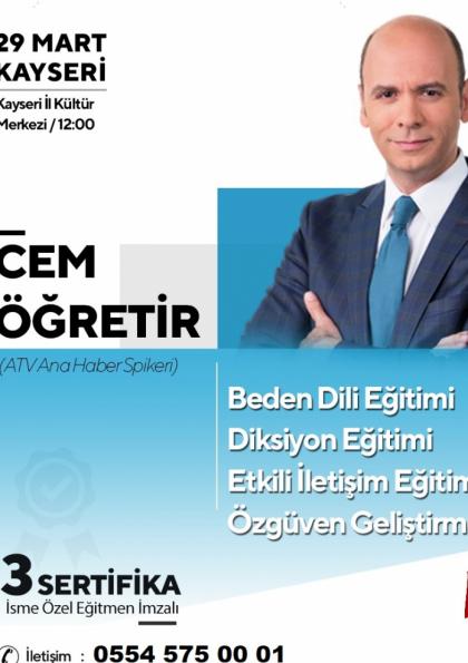 Cem Öğretir Semineri Kayseri