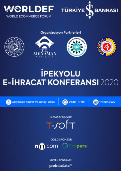 İpekyolu E-İhracat Konferansı 2020 Etkinlik Afişi