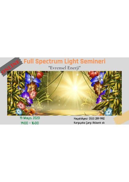 ONLİNE Full Spectrum Healing ''Evrensel Enerji'' Etkinlik Afişi