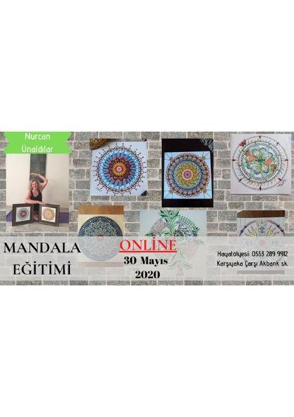 ONLİNE Mandala Eğitimi Etkinlik Afişi