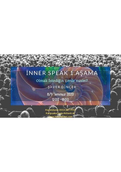 Inner-Speak (iç Benlikle Konuşma Yöntemi) 1. Aşama Afişi