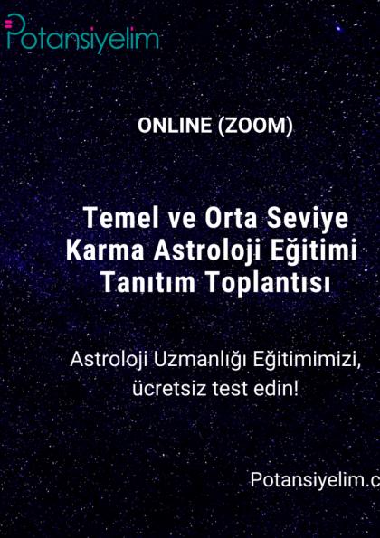 Astroloji eğitimi tanıtım toplantısı Afişi