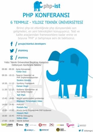 PHP-İST - PHP Konferansı Etkinlik Afişi