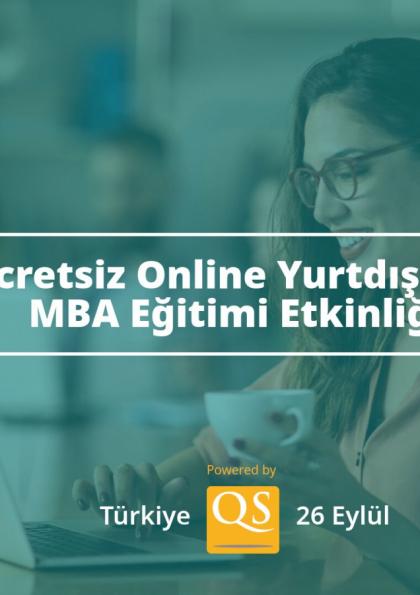 Ücretsiz Online Yurtdışında MBA Eğitimi Etkinliği - Türkiye Afişi