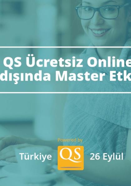 QS Ücretsiz Online Yurtdışında Master Etkinliği - Türkiye Afişi