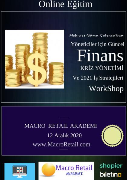 Yöneticiler için Finans, Kriz Yönetimi ve İş Stratejileri Eğitimi (Online) Etkinlik Afişi