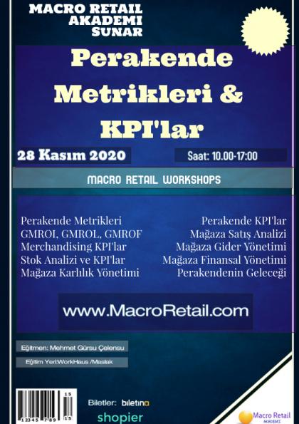 Perakende Metrikleri ve KPI'lar Eğitimi (Online) Etkinlik Afişi