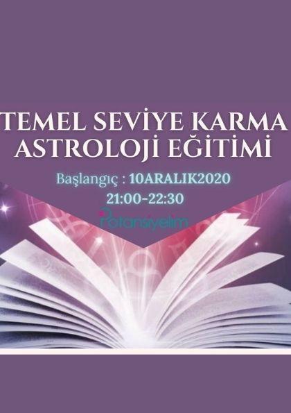 Temel Seviye Karma Astroloji Eğitimi Etkinlik Afişi