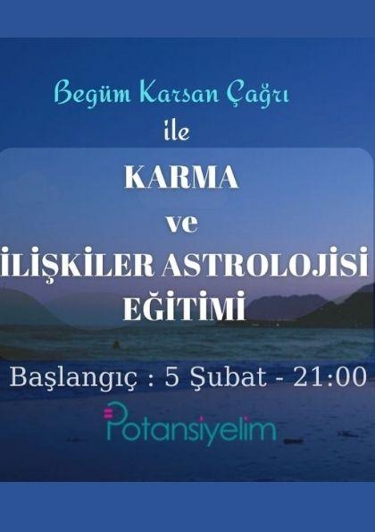 Karma ve İlişkiler Astrolojisi Etkinlik Afişi