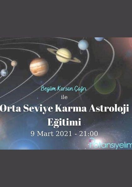 Orta Seviye Karma Astroloji Eğitimi Afişi