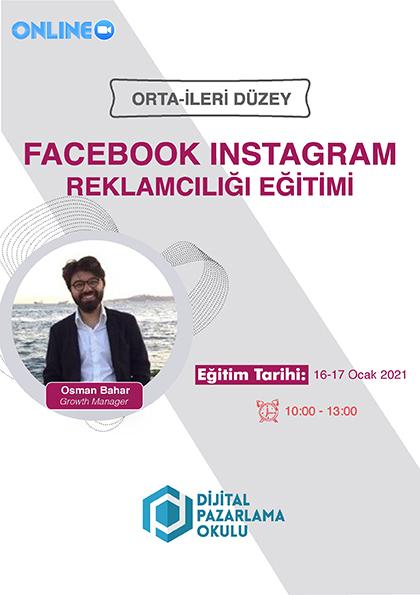 İleri Düzey Facebook & Instagram Reklamcılığı Eğitimi Etkinlik Afişi