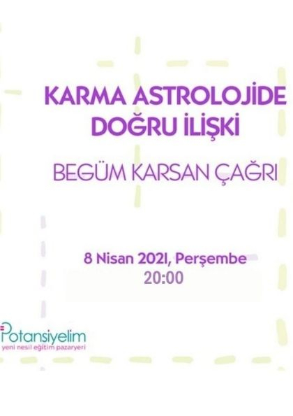 Karma Astrolojide Doğru İlişki (Ücretsiz Zoom Semineri) Etkinlik Afişi
