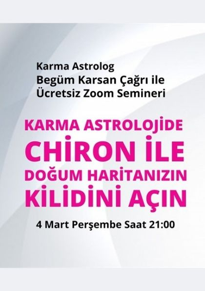 Karma Astrolojide Chiron ile Doğum Haritanızın Kilidini Açın Afişi