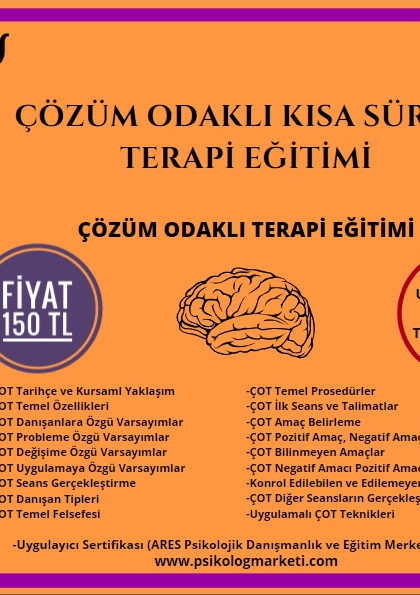 Çözüm Odaklı Terapi Eğitimi - 100 TL ! Afişi