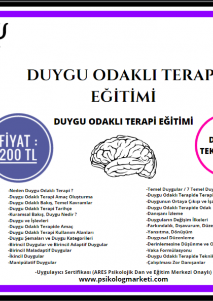 Duygu Odaklı Terapi Eğitimi - 150 TL ! Afişi