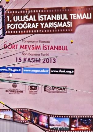 """1. Ulusal """"İstanbul"""" Temalı Fotoğraf Yarışması Etkinlik Afişi"""