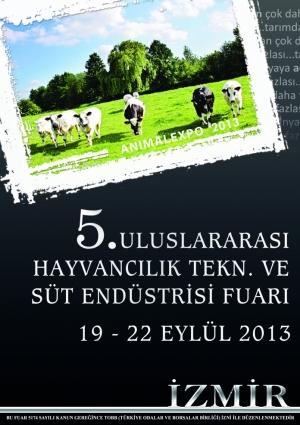 Animalexpo 5. Uluslararası Hayvancılık Teknolojileri ve Süt Endüstrisi Fuarı Etkinlik Afişi