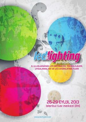 9. Uluslararası LED & LED Aydınlatma Fuarı Etkinlik Afişi