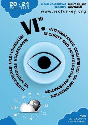 6. Uluslararası Bilgi Güvenliği ve Kriptoloji Konferansı Etkinlik Afişi