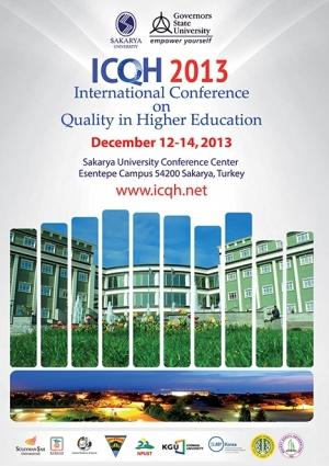 ICQH 2013- Uluslararası Yükseköğretimde Kalite Konferansı Etkinlik Afişi