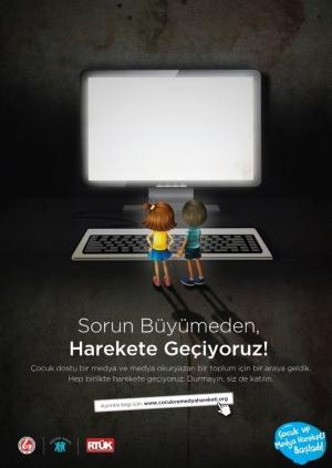 I. Türkiye Çocuk ve Medya Kongresi Etkinlik Afişi