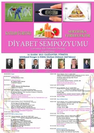 Uluslararası Diyabet Sempozyumu Etkinlik Afişi