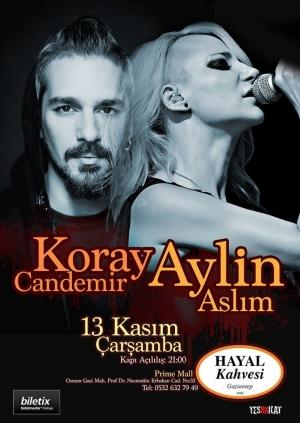 Aylin Aslım & Koray Candemir Gaziantep Konseri Etkinlik Afişi