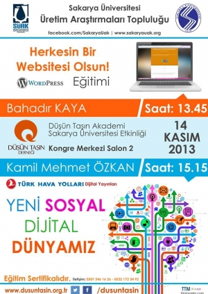 Herkesin Bir Web Sitesi Olsun Wordpress ve Yeni Medya Eğitimi Etkinlik Afişi
