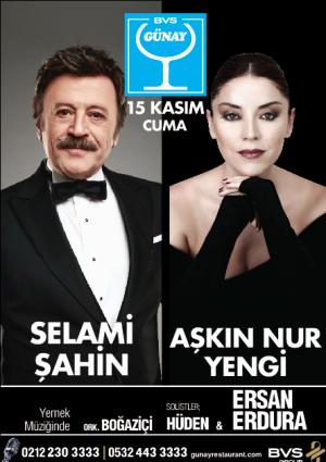 Selami Şahin & Aşkın Nur Yengi Konseri Etkinlik Afişi