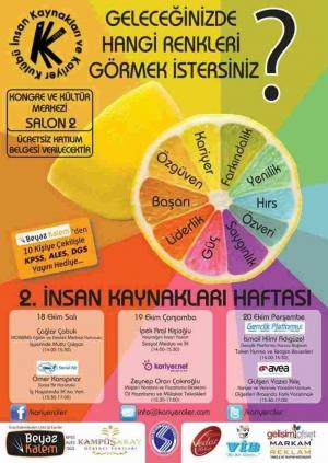 Sakarya Üniversitesi 2. İnsan Kaynakları Haftası Etkinlik Afişi