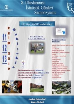 8. Uluslararası İstatistik Günleri Sempozyumu Etkinlik Afişi