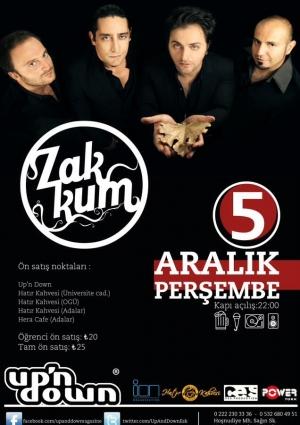 Zakkum Eskişehir Konseri Etkinlik Afişi