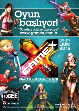 GameX 2012 Oyun Fuarı Etkinlik Afişi