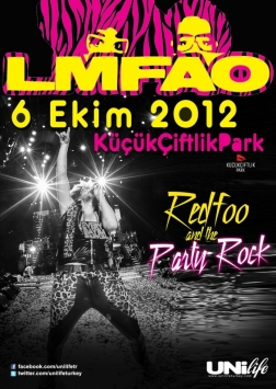 LMFAO - Redfoo Party Rock Crew İstanbul Etkinlik Afişi