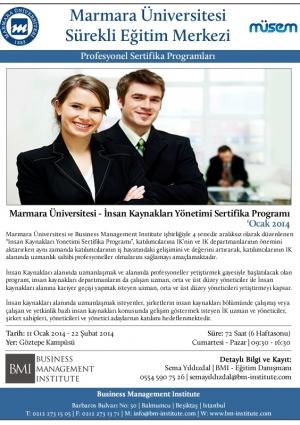 Marmara Üniversitesi - İnsan Kaynakları Yönetimi Sertifika Programı Etkinlik Afişi
