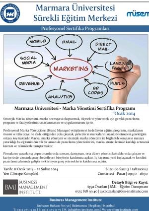 Marmara Üniversitesi - Marka Yönetimi Sertifika Programı Etkinlik Afişi