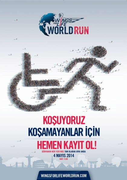 Koşamayanlar İçin Dünya Koşusu Alanya'da Etkinlik Afişi