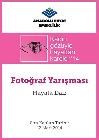 Kadın Gözüyle Hayattan Kareler'14 Etkinlik Afişi
