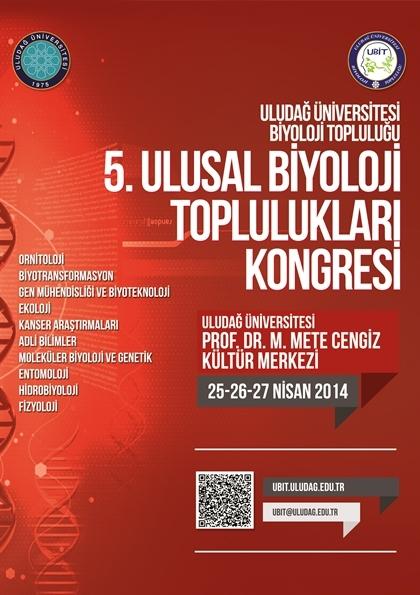 5. Ulusal Biyoloji Toplulukları Kongresi Etkinlik Afişi