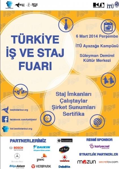 Türkiye İş ve Staj Fuarı Etkinlik Afişi