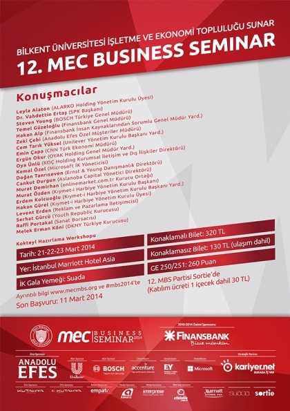 12. MEC Business Seminar Afişi