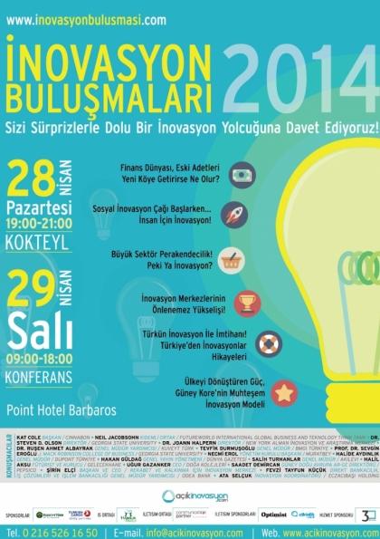 İNB2014 - İnovasyon Buluşması 2014 Etkinlik Afişi