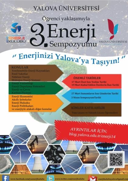 Öğrenci Yaklaşımıyla 3. Enerji Sempozyumu Etkinlik Afişi