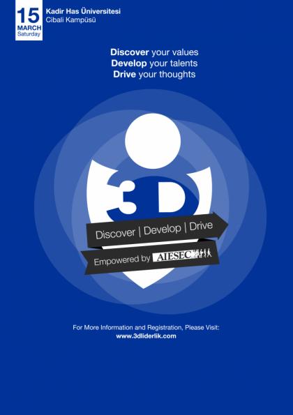 3D Liderlik Programı Etkinlik Afişi