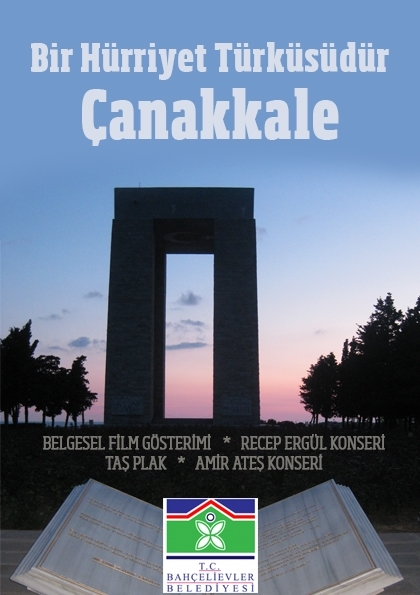 Bir Hürriyet Türküsüdür Çanakkale Etkinlik Afişi