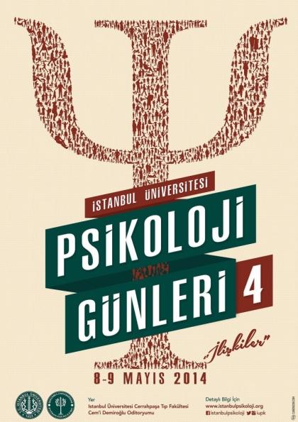 İstanbul Üniversitesi IV. Psikoloji Günleri Etkinlik Afişi