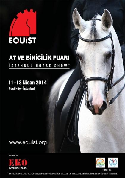 At ve Binicilik Fuarı Equist İstanbul Horse Show Etkinlik Afişi